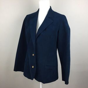 Abe Schrader | Vintage Suede Suit Jacket | Navy